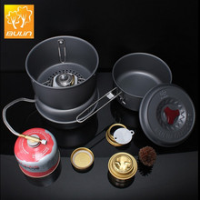 outdoor camping alcohol and gas stove double function with pot set BL100-Q1Combination Stove Multi-purpose Fuel Stove