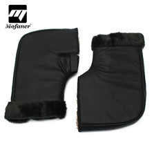 Mofaner Windproof Motorcycle Scooter Quad Bike Handlebar Gloves Hand Fur Muffs Glove Mitts Winter Warmer(China)