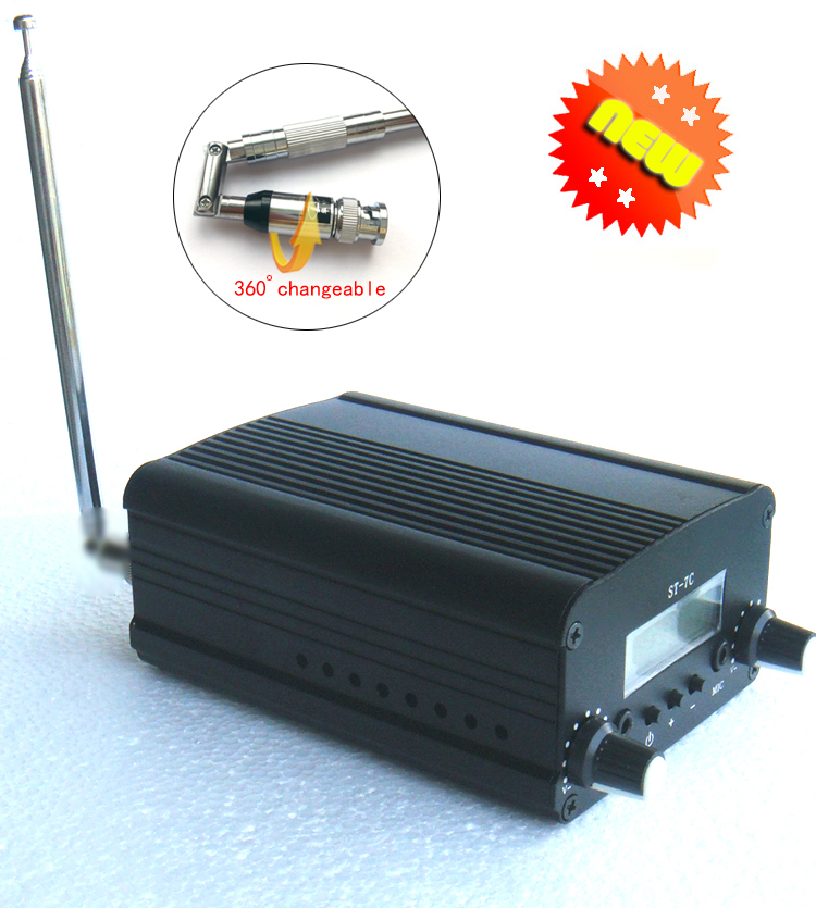 1/set 1W/7W FM broadcast transmitter radio station audio converter built-in PLL frequency + Small antenna(China)
