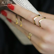Fashion accessories jewelry New punk cuff finger ring set gift for women girl wholesale R1364(China)