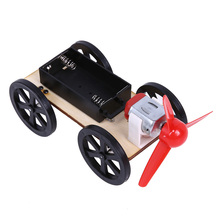 Wind Up Toys Wind Powered Cars Technology Production Scientific Puzzle DIY Assembling Toy(China)