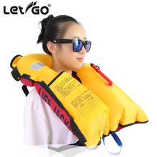 Adult Children Life Vest Boating Life Jacket Fishing Swimming Drifting Automatic Inflatable Vest Neoprene Women Men Jackets New(China)