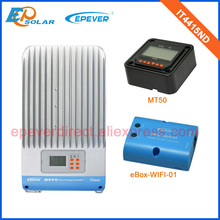 Great price itracer mppt controller 45A 45Amp IT4415ND wifi function ewifi-BOX-01 with black MT50 remote meter(China)