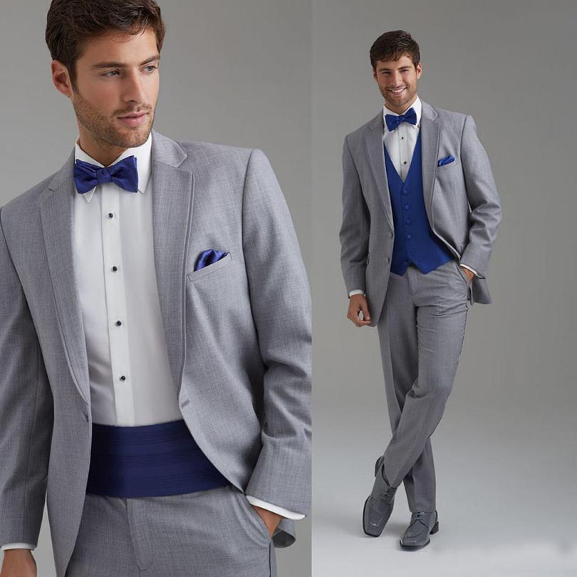 Grey And White Prom Suit | My Dress Tip