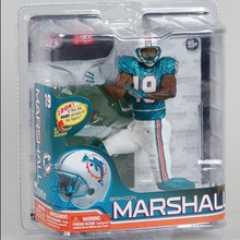 Animation Garage Kid Collection Kids Toy McFarlane Action Figure PVC Dolls NFL Football Player Brandon Marshall Model Best Gifts