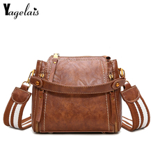 Vintage Leather Flap Women Zipper Closer Solid Handbags Simple Design Shoulder Bags Women Crossbody Bags Fashion Women Bags(China)
