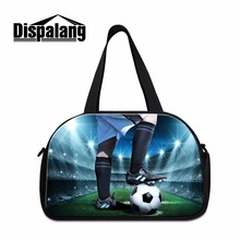 Dispalang Footbally 3D Print Large Travel Bag for Men Brand Duffle Bags Soceerly Design Shoulder Travel Carry on Bags for Boys