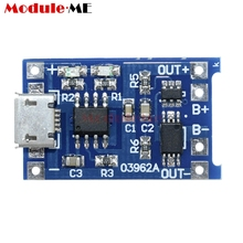 5PCS Micro USB 5V 1A 18650 TP4056 Lithium Battery Charger Module Charging Board With Dual Functions(China)