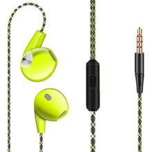 Stereo Earphone Earpiece With Microphone 3.5mm Sport Headphones Bass Earpods For Apple iPhone 6 6S 5 5S For Samsung Mobile Phone(China)