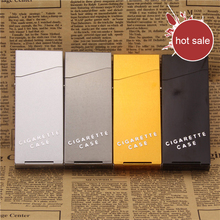 New Vogue Ms Cigarette Case Cigarette Box Solid Color Metal Case Smoking Pouch for 20 Cigarettes Accessories(China)