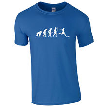 Evolution Footballer T-Shirt - Ape to Human Euro 2016 Fan Inspired  Mens Top Fashion Men And Woman T Shirt Free Shipping