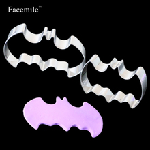 Facemile Bat Shape Metal Cookie Biscuit Cutter Fondant Cake Decorating Tools Sugar 3D Pastry Molds Bakeware DIY Baking Tools