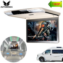 11.6 inch 1920*1080 Touch Car Roof Mount Overhead Ceiling Monitor Car MPV Flip Down Monitor-set TFT Screen IR FM HDMI SD USB VAN