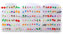 24pairs Wholesale Jewelry Lots Mixed Women Polymer Ear Studs Earrings + Display