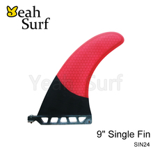 SUP Barbatana Surf 9 inch Fin Fibreglass Carbono Barbatana in Surfing Longboard Fins stand up paddle(China)