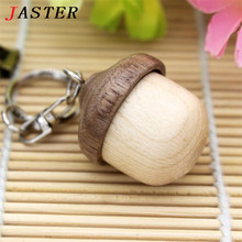 JASTER Squirrel nut Wooden pendrive   usb 2.0  4GB 8GB 16GB 32GB Version memory flash stick pen drive