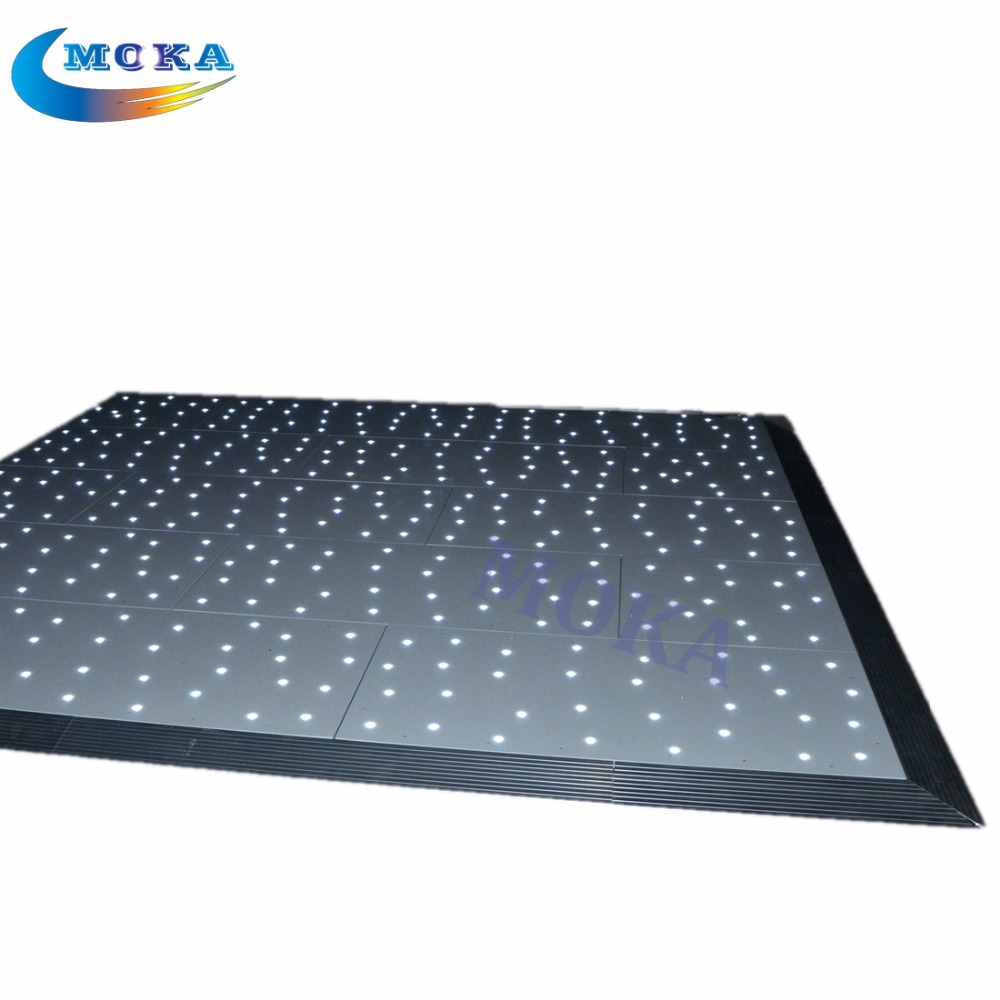 White/RGB LED Dance Floor starlit dance floor for  Wedding DJ Stage Club/Party<br>