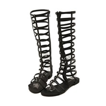 Summer Style Knee High Sandals Shoes Women Fashion Gladiator Sandals Sexy Women And Ladies Boots Sandal Shoes Zapatos Mujer