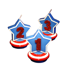 Five-Pointed Star Candles Smokeless Child Birthday Candle Number Decorative Birthday Candles for Cake Decoration(China)