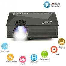 Mini UC46 LED Projector 1200LM 1080P Support Miracast Airplay Home Theater Cinema Home Entertainment for iPhone /Smart phone