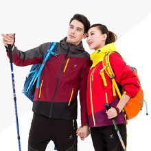 ESDY 2017 Outdoor Hooded Softshell Camping Hiking Mountaineer Travel Jackets Waterproof Jacket Raincoat Women/Men Sportswear