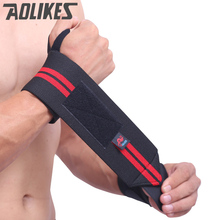 AOLIKES 2Pcs Hand Wraps Wrist Strap Weight Lifting Wrist Wraps Crossfit Powerlifting Bodybuilding Breathable Wrist Support Train(China)