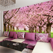 Floral Wallpaper Contemporary Wall Covering,Other Peach Cherry Wallpaper Murals