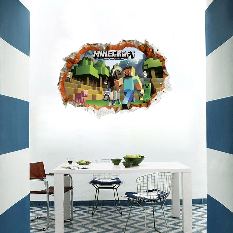 Minecraft Wall Mural Wall Murals Youll Love - 3d minecraft wall decals