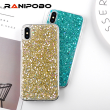 Buy Fashion Shinning Glitter Powder Soft Covers iphone X 8 7 7 Plus iphone 6 6sPlus SE 5 5s Red Love Heart Phone Capa Fundas for $1.49 in AliExpress store