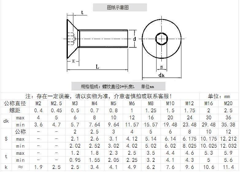 x 25mm Stainless Screw 304 CSK Flat 8mm Qty 20 Countersunk Head Socket M8