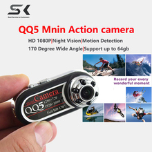 QQ5 Camera Espion Full HD 1080P 720P Night Vision DVR Mini Camera Camcorder 12MP Webcam 170 Wide Angle Motion Detection