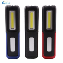 2 Modes LED Flashlight USB Charging Night Light Portable COB LED+XPE LED Torch Lantern Work Lights Camping Lamp With Magnet Hook(China)