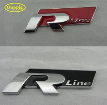 1 pc 3D Rline Car badge logos R line emblem car stickers Car styling for VW Polo Golf 6 5 7 Jetta MK5 MK6 POLO Passat B5 B6 B7(China)
