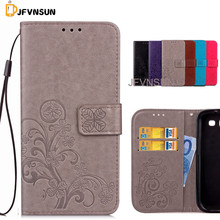 JFVNSUN Case for Samsung Galaxy S3 i9300 Brand NEW Leaf Clover Flower Pattern Emboss Wallet Stand Phone Bag Coque Flip Cover(China)