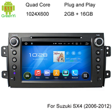 Android 5.1.1 Quad Core Car PC DVD GPS For Suzuki SX4 2006-2012 1024*600 Capacitive Touchscreen Audio Stereo Multimedia Car PC