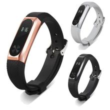 Buy New Fashion Metal Wristband Business Style Strap Bracelet Xiaomi Mi Band 2 for $4.45 in AliExpress store