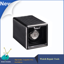 High Quality Mini Carbon fiber Leather Automatic Watch Winder box,Ultra quiet Motor 4 Modes Watch Winder(China)