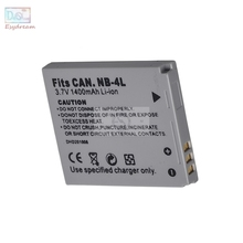 NB4L NB-4L 1400mAh Camera Battery for Canon IXUS 115 130 XY Digital 400F 55 PowerShot ELPH 100 TX1 SD400 SD940 PM056