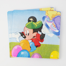 20 pcs Blue Mickey Mouse Paper Napkin for Party Decoration Supplies Kids Birthday Party Decoration