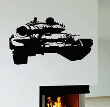 Amy Tank Wall Sticker Tank War Military Mural Wall Sticker Children Room Boy Bedroom Car Wall Decal Home Decoration