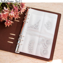 NoEnName_Null 10 Sheets DIY Scrapbooking Cutting Dies Stencil Storage Book  frame Case Synthetic Leather Book Collections