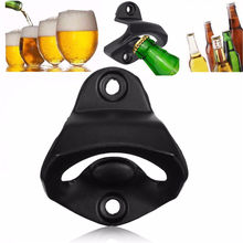 Practical Zinc Alloy Wall Mounted Open Wine Beer Soda Glass Cap Bottle Opener Kitchen Bars Club Tool Gifts Without Screws(China)
