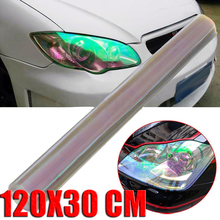 Mayitr 120*30cm Transparent Car Styling Headlight Film Stickers for Car Lights Taillight Tint Vinyl Film Sheet Auto Body Sticker(China)