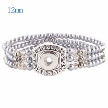 New 2016 Hot wholesale Snap Bracelet&Bangles High quality stainless steel bracelet fit 12mm snaps button jewelry KS0923-S(China)