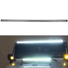 45 inch 126W Super Slim Off Road Led Light Bar Car Parts Led Single Beam 12volt Universal Roof Bars For 4x4 Accessories Off Road