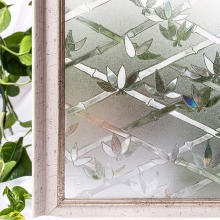 CottonColors PVC Waterproof Window Cover Films , No-Glue 3D Static Flower Decoration Privacy Glass Sticker Size 45 x 200cm