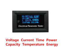 7 in 1 OLED Multifunction Tester Voltage Meter Current Time Capacity Meter Temperature Electrical Voltmeter Ammeter High Quality(China)
