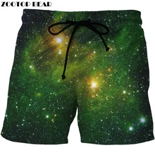 2017 New Summer 3D Starry Sky Casual Shorts Digital Printing Mens Fashion Beach Short Quick Drying Polyester