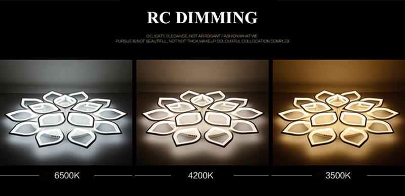 Horsten Remote Control Modern LED Ceiling Lights For Living Room Bedroom Acrylic Ceiling Lamps Flower Design Celing Lamp 90-260V (3)