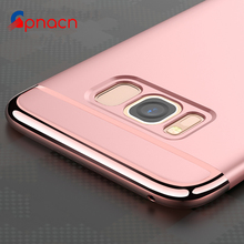 For Samsung Galaxy S8 S7 S6 Edge Plus Case Premium Plating Anti-Knock Plastic Phone Protective Case for Samsung Galaxy S8 Plus